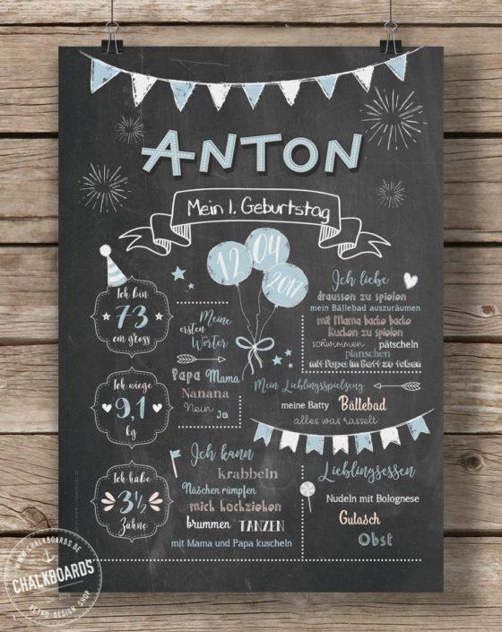 Baby Chalkboard Anton