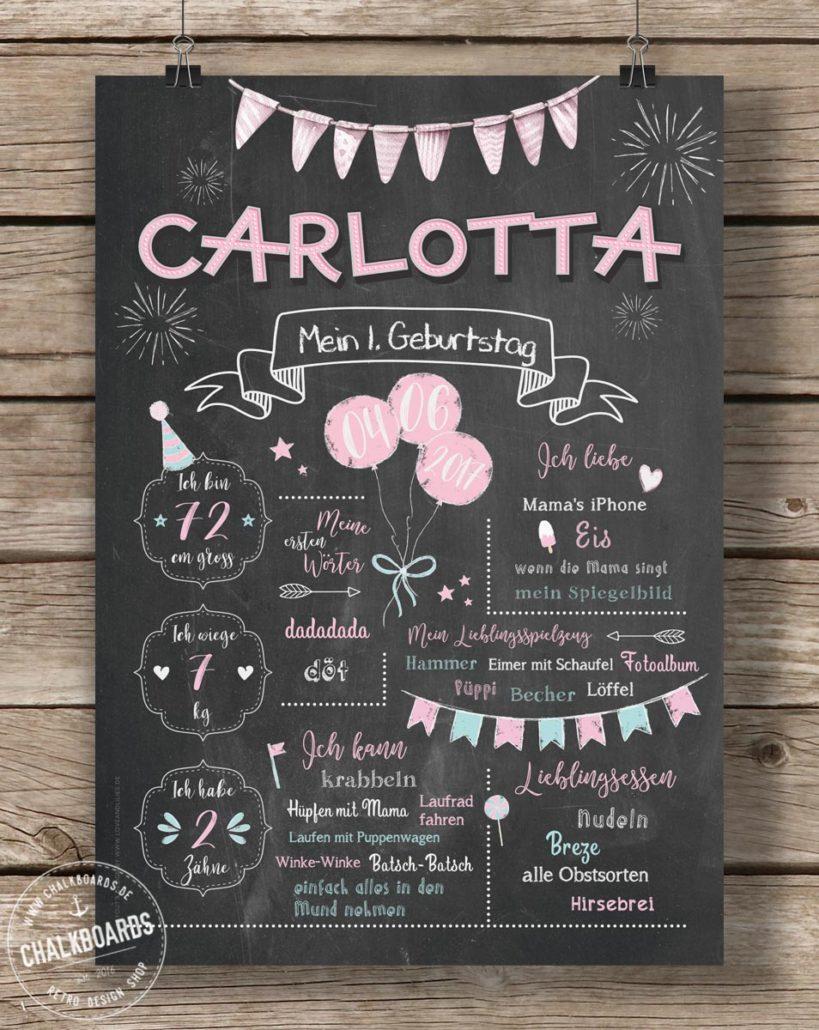 Baby Chalkboard Carlotta