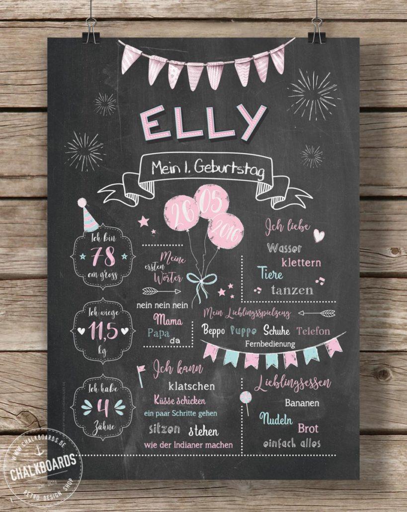 Baby Chalkboard Elly