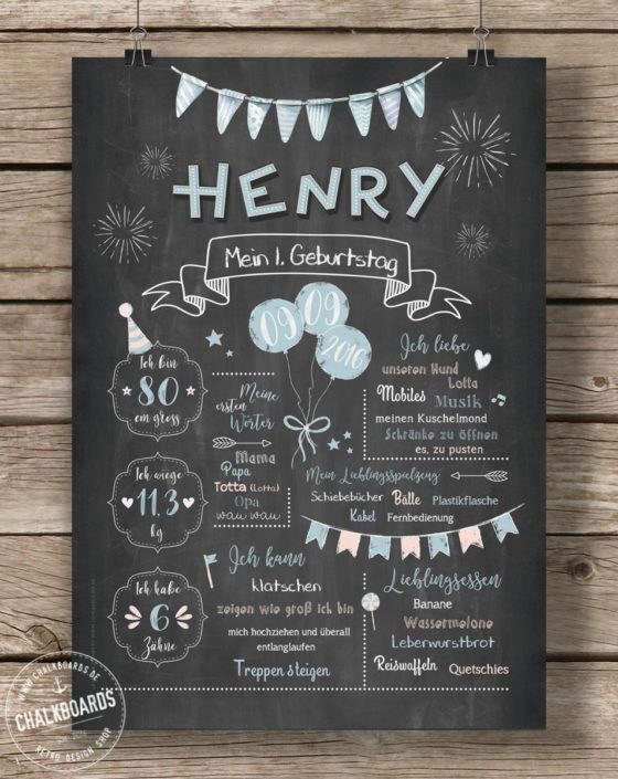 Baby Chalkboard Henry