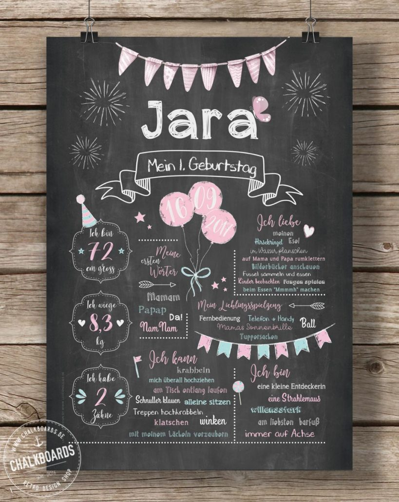 Baby Chalkboard Jara