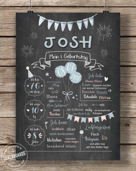 Baby Chalkboard Josh