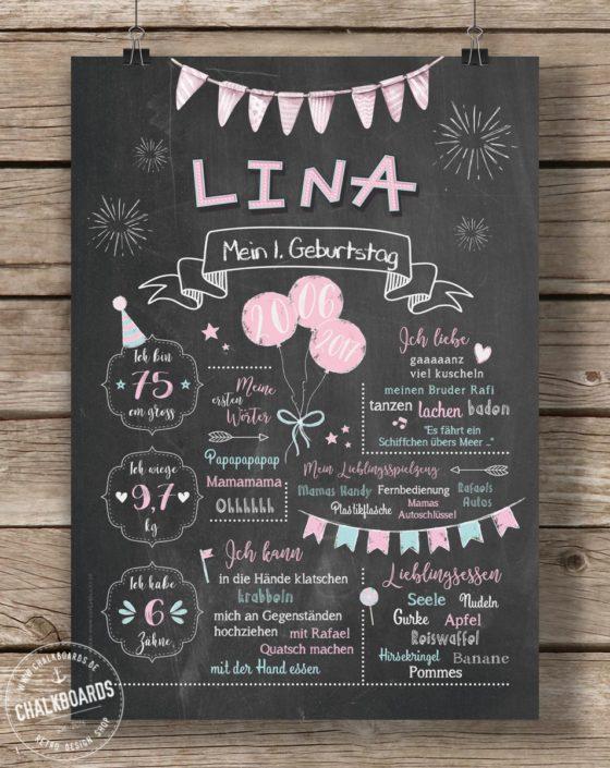 Baby Chalkboard Lina