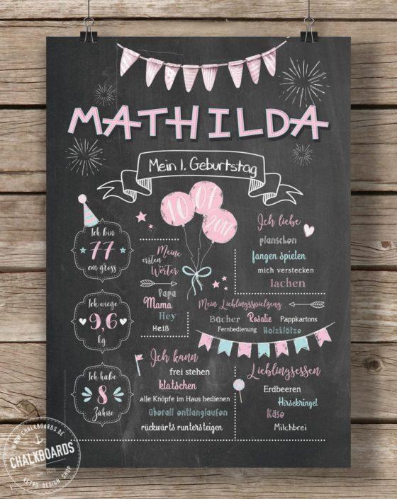 Baby Chalkboard Mathilda