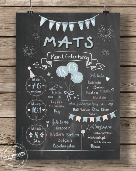 Baby Chalkboard Mats