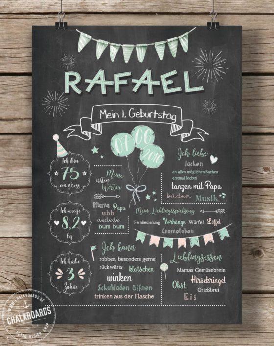 Baby Chalkboard Rafael