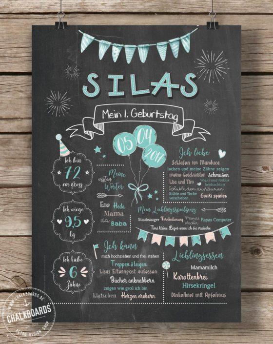 Baby Chalkboard Silas