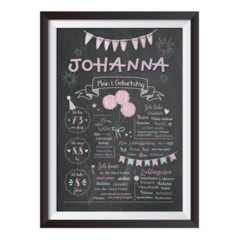 Baby-Baby-Chalkboard zum 1. Geburtstag für JungenBaby-Chalkboard zum 1. Geburtstag für Mädchen