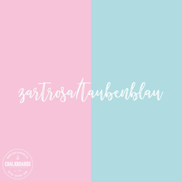 Baby-Chalkboard Farbe: rosa/taubenblau