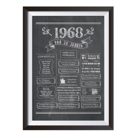 Retro Chalkboard / Jahrgangsposter 1968