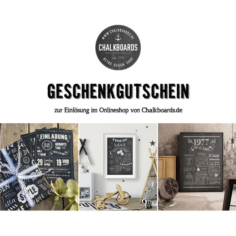 Geschenkgutschein Chalkboards.de
