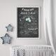 Baby-Chalkboard/Geburtstagsposter/Meilensteintafel zum 1. Geburtstag mint