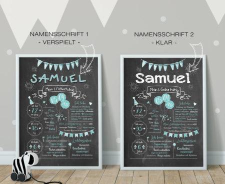 Baby-Chalkboards Meilensteintafeln Namensschriften verspielt/klar