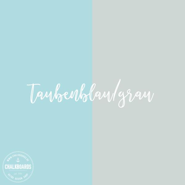 Chalkboard Einschulung / Farbe: taubenblau-grau