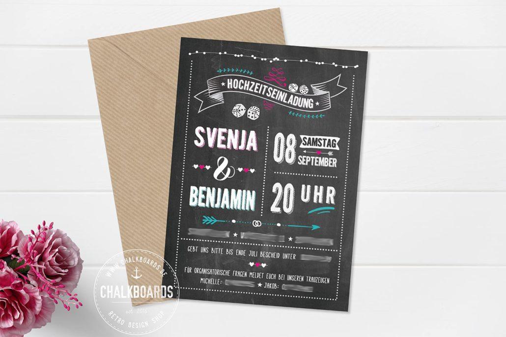 Retro Einladung Hochzeit
