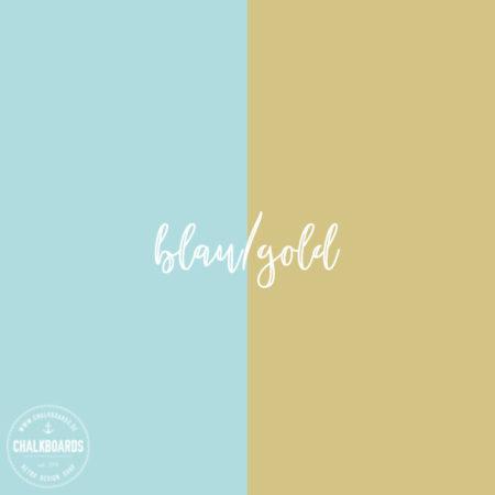 Farben im Detail: blau/gold
