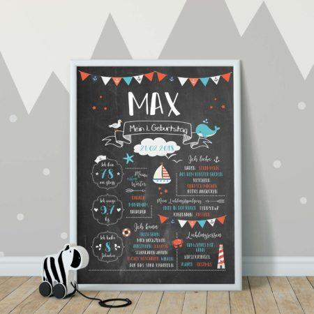 Meilensteintafel - Chalkboard_maritim