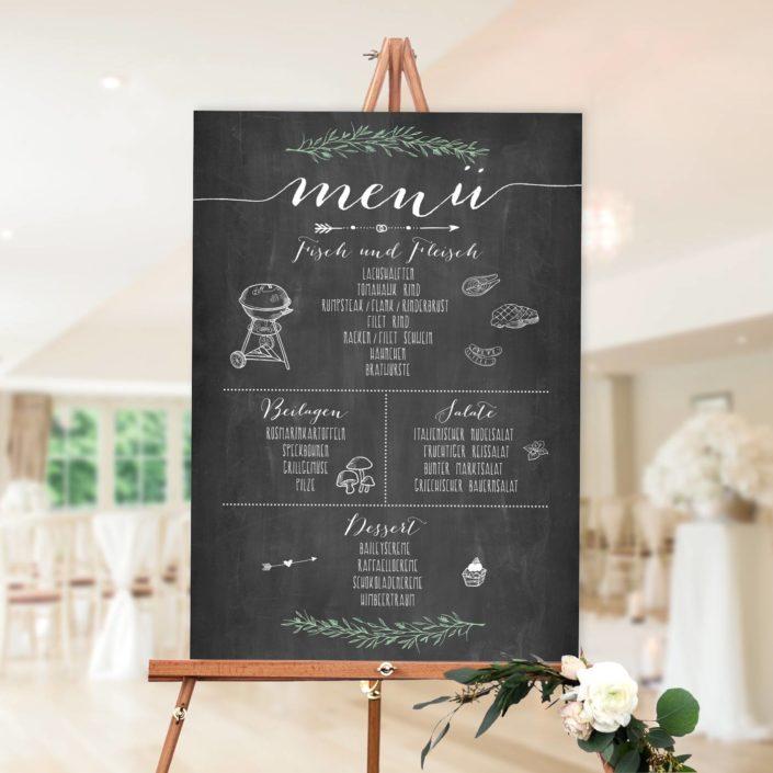 Menü zur Hochzeit