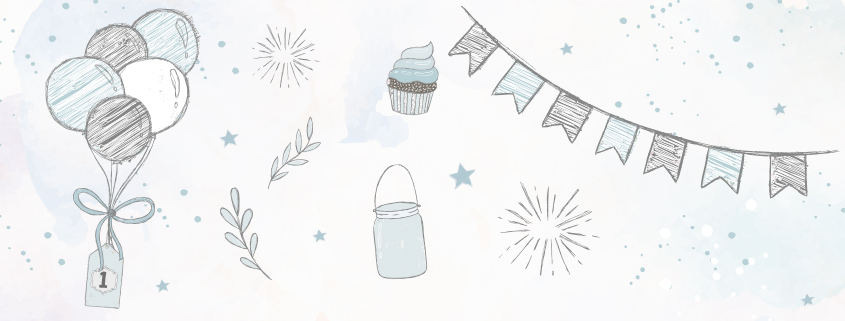 Meilensteintafeln Baby Chalkboards 1 Geburtstag