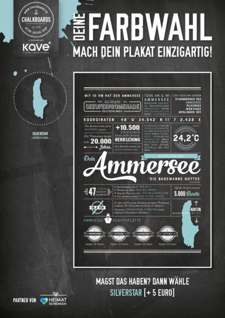 Retro Chalkboard / Ammersee Plakat 'Silverstar'