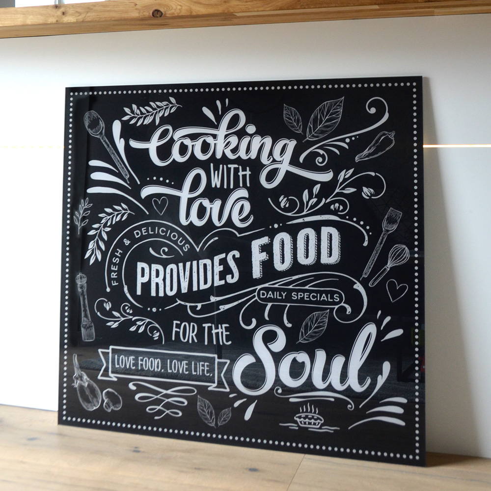 Chalkboard Cooking With Love Provides Food For The Soul